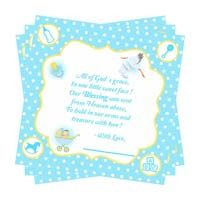 Baby Announcement theme Blue boy Thank you card