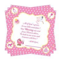 Baby Announcement theme Baby Pink Thank you card