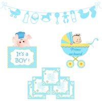 Baby Announcement theme Baby Boy Announcement kit