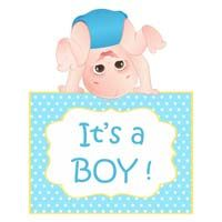 Its a boy - Baby Announcement
