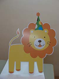Jungle Safari theme Lion with party hat
