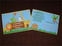 Jungle Safari theme Rectangular Invitations