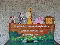 Jungle Birthday Supplies theme Entrance banner