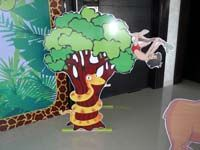 Jungle Birthday Supplies theme Snake on tree with Mogili poster