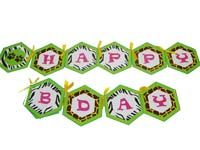 Jungle theme Happy Birthday Bunting