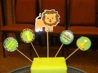 Jungle Birthday Supplies theme Lion centerpiece