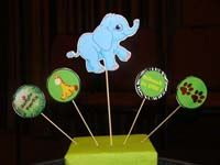 Jungle Birthday Supplies theme Elephant centerpiece