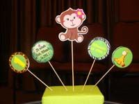 Jungle Birthday Supplies theme Monkey centerpiece