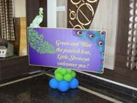 Peacock theme Welcome board