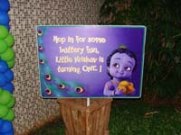 Little Krishna theme Entrance banner