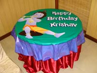 Little Krishna theme Table covers