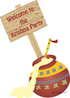 Little Krishna theme Butter pot entrance