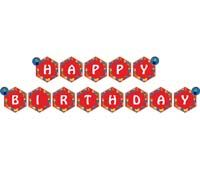 Happy Birthday Banners - Lego theme party supplies