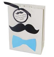 Little Man theme Stickered gift bags