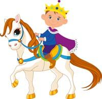 Little Prince theme  - Little prince riding a horse