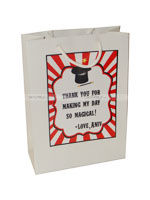 Stickered gift bags - Magic theme birthday party supplies