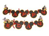 Mickey Minnie theme Happy Birthday Bunting
