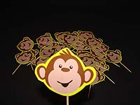 Monkey theme Cup cake toppers