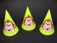 Monkey Birthday theme Hats