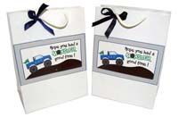 Stickered gift bags - Monster Truck Birthday Party Supplies