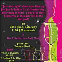 Neon theme  - Neon/Young at heart invite