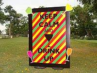 Neon theme Keep calm and drink up cut out