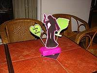 Neon theme Dancing girl centerpiece