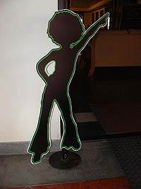 Neon theme Dancing girl cut out