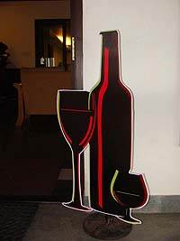 Wine bottle and glass - Neon