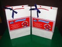 Stickered gift bags - Nursery Rhymes Theme Party