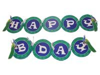Peacock theme Happy Birthday Banners