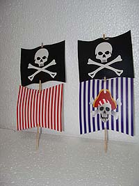 Pirate birthday theme Boat sail toppers