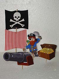 Pirate birthday theme Character toppers