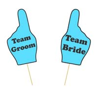 Wedding photo props theme Team Bride and Groom Prop Set