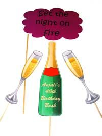 Wedding photo props theme Set the night on fire Prop set