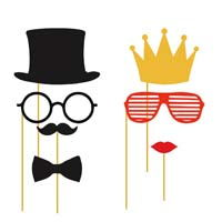 Photo Shoot theme King and Queen party props