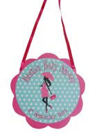 Pink Baby Shower theme Door hanger