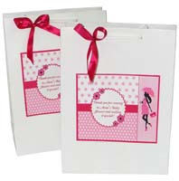 Pink Baby Shower theme Stickered gift bags