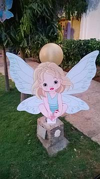 Princess theme Blue Fairy Princess cut out