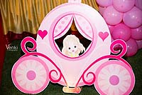 Princess theme Fairy princess in a carriage