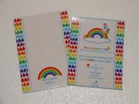 Rainbow theme  - Rainbow birthday invitation with custom envelope