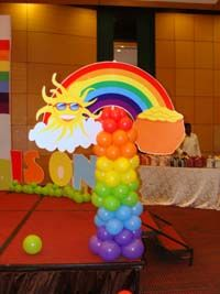 Rainbow theme Pot of gold with Rainbow