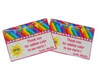 Rainbow theme Thank you cards