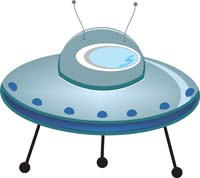 Flying Saucer cutout - Space
