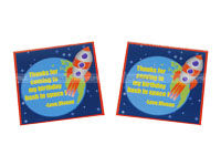 Space theme Thank you cards