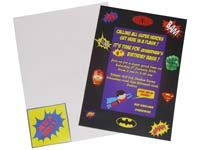 Superhero theme Rectangular Invitations