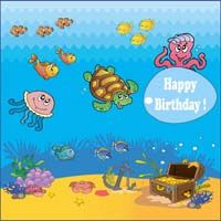 Underwater birthday theme  - Underwater birthday banner