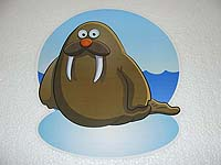 Underwater birthday theme Walrus