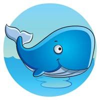 Underwater birthday theme Blue whale