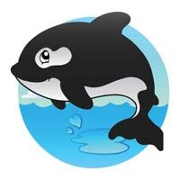 Underwater theme Orca whale